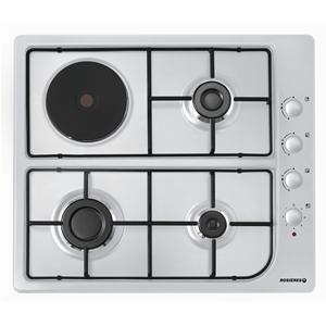 ROSIERES - RTL631SERB _ Table de cuisson Gaz - 1 foyer rapide 2,7 kW - Allumage intégré aux manettes - Sécurité gaz par thermocouple - Robinets à réglage progressif - Grilles émaillées.