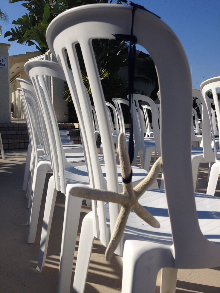 A simple decor for a wedding by the water.  Real Weddings Il Lugano Fort Lauderdale