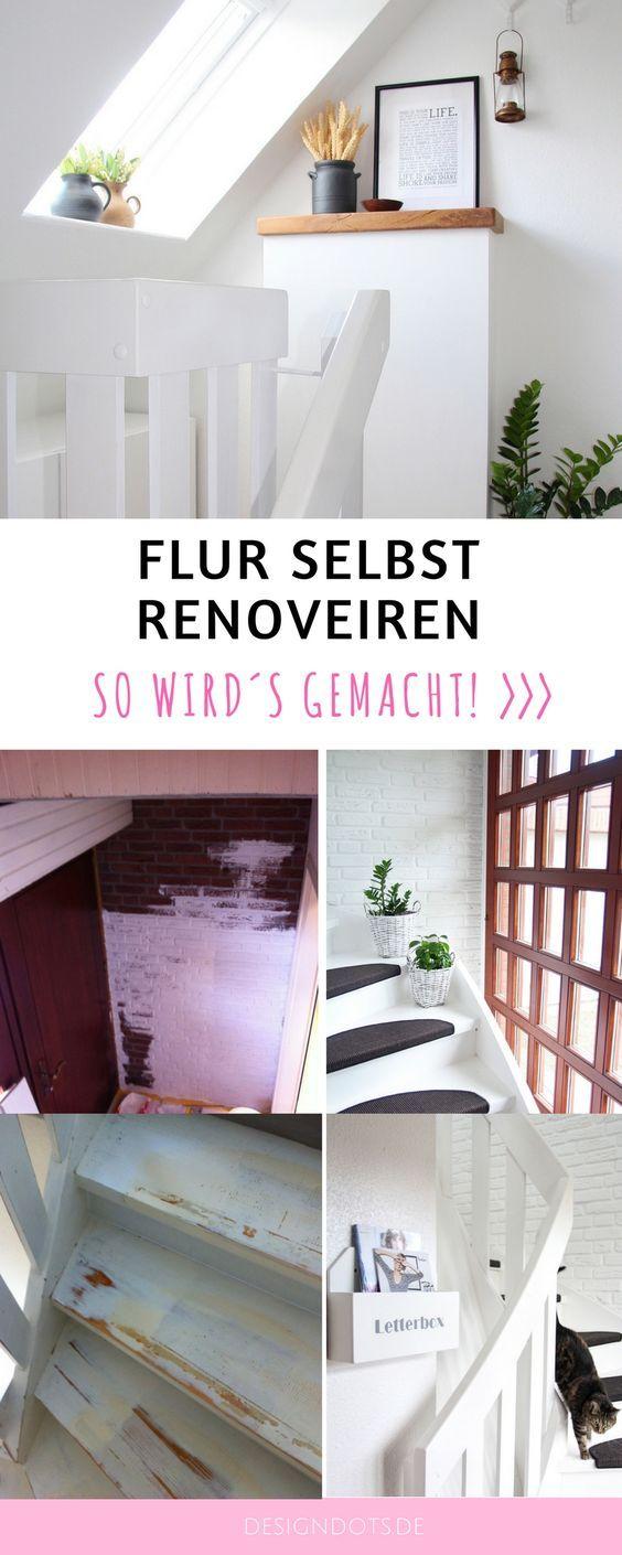 Flur und Treppenhaus neu gestalten und dekorieren: vorher nachher. Wohnung renovieren, neue gestalten und dekorieren