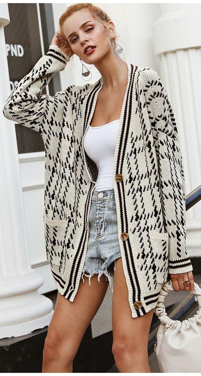 Books & Coffee Plaid Sweater Cardigan Plaid sweater