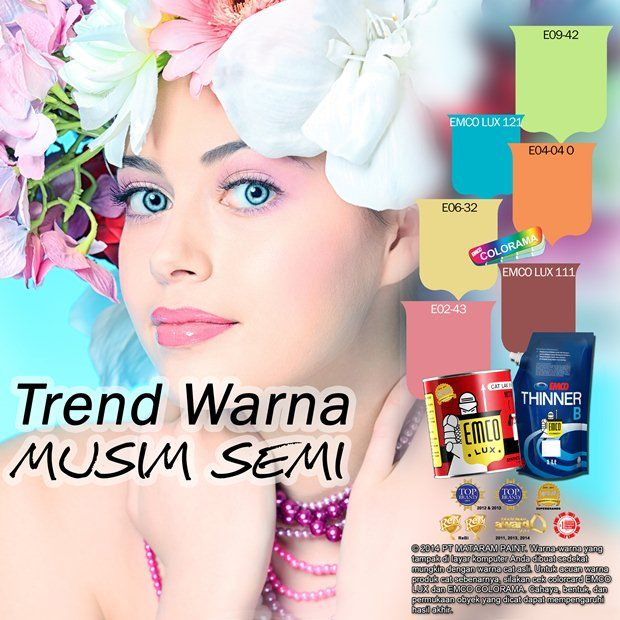 Trend Warna Musim Semi #Future #Color #EMCOPaint http://matarampaint.com/detailNews.php?n=320