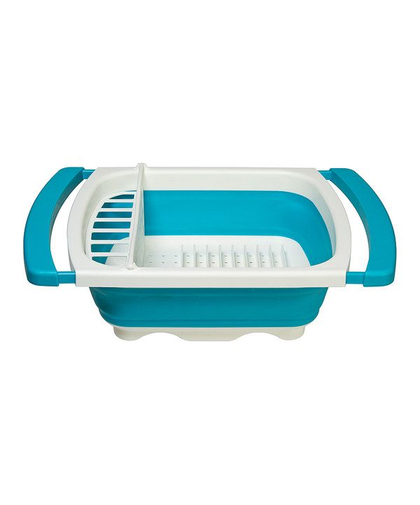 Love this Progressive Teal Collapsible Dish Drainer by Progressive on #zulily! #zulilyfinds