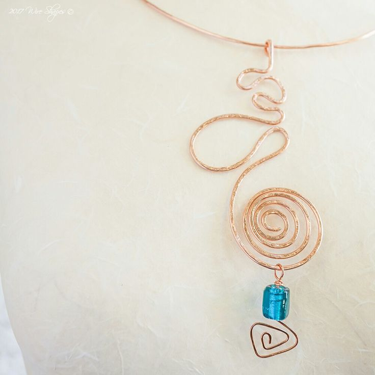 A copper choker with spiral