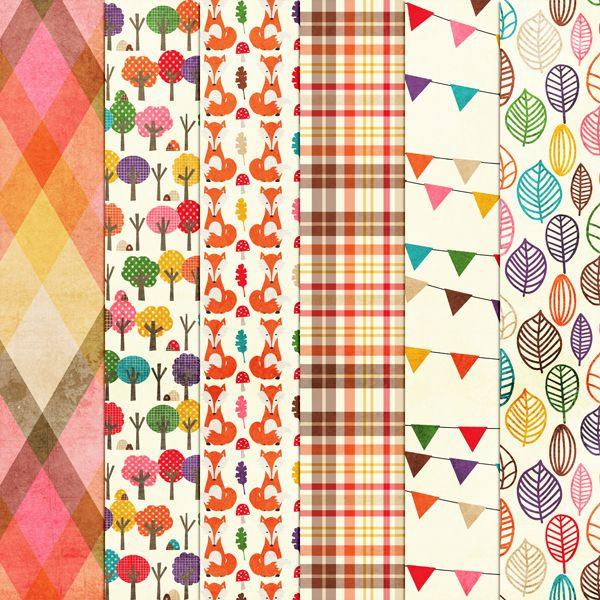 Free Woodland Tea Party Paper Pack {2} from Harper Finch