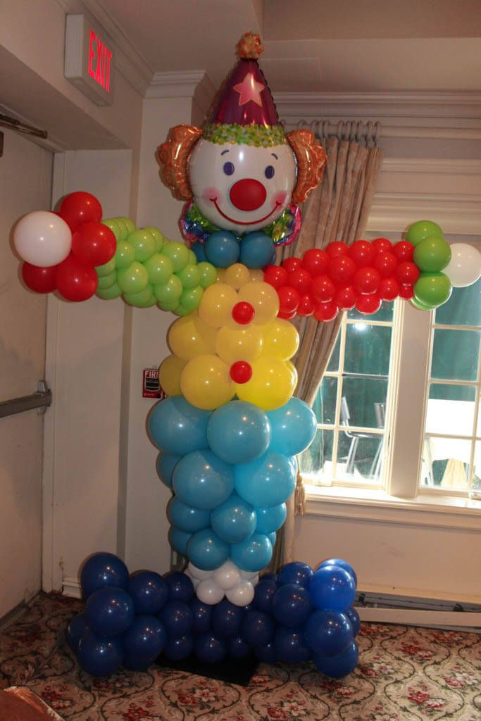 Clown Balloon Sculpture Clown Balloon Sculpture for Circus Themed First Birthday