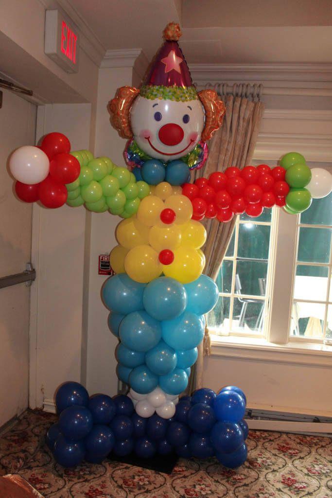Clown balloon sculpture for circus