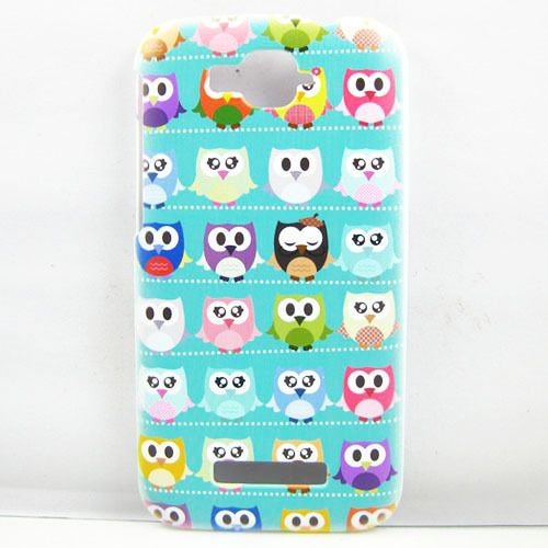 Cute Cartoon Green Multiple Owl HARD CASE Cover FOR Alcatel One Touch Pop C7