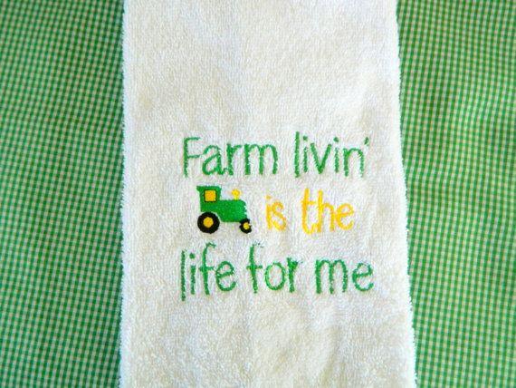 Farm Kitchen Towel Hostess Gift Decorative Kitchen Towels Kitchen Decor Unique Gifts Farm Kitchen Towel Tractor Towel John Deere