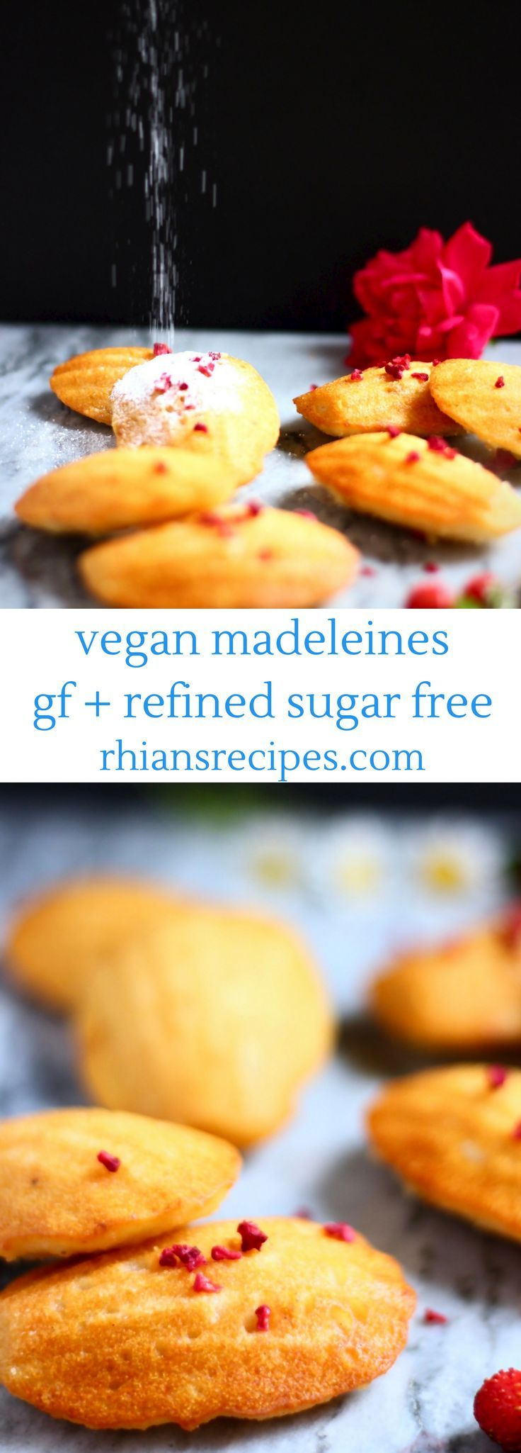 These Gluten-Free Vegan Madeleines are so easy to make and just as delicious as the traditional version! Refined sugar free.