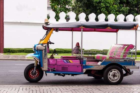 Tuk-tuks is basically a rickshaw with a small engine installed. It was inspired from old-fashioned rickshaw during World War 2. Today, it is one of the most noticeable transport of Bangkok and is quite popular among tourists.