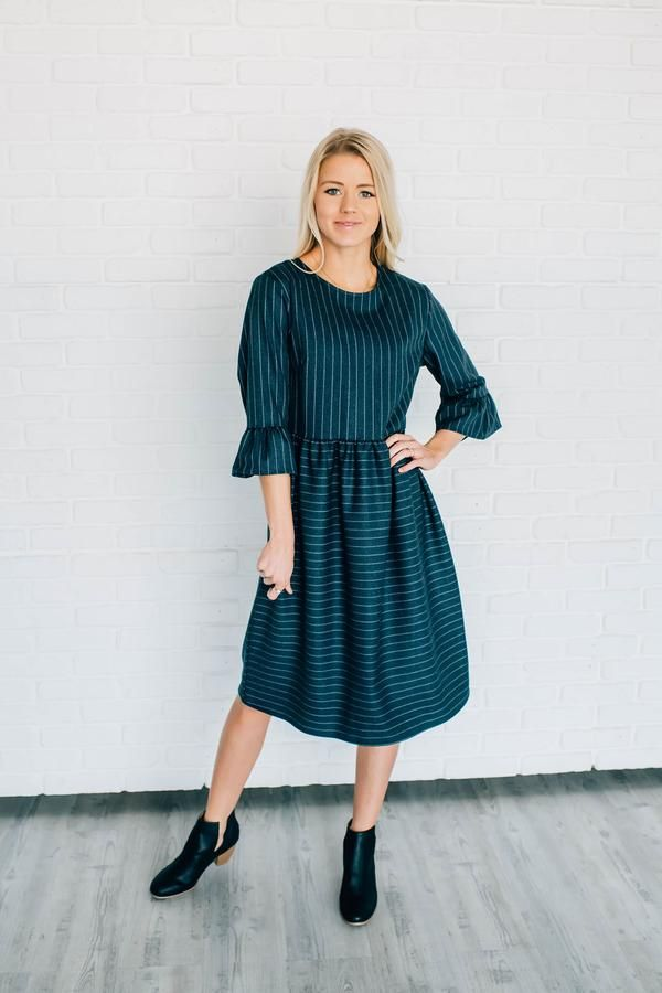 5397c332931 Rochelle pin-striped dress in 2019