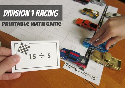 Grab some tiny toy cars and get ready for a fun math game. Kids will love solving division problems to move cars toward the finish line! Stop by my Relentlessly Fun, Deceptively Educational for this great free printable!