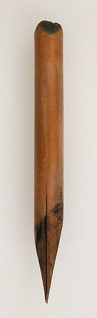 Pen Date: 580–640 Geography: Made in Thebes, Byzantine Egypt Culture: Coptic Medium: Reed Dimensions: Overall: 4 x 3/8 in. (10.2 x 1 cm)