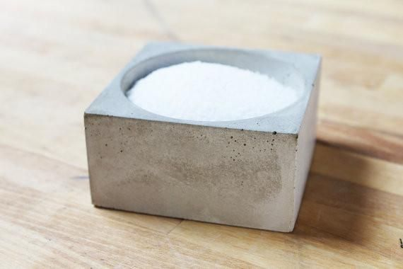 Salt + Spice Pinch Bowl - made of a unique concrete mix that includes recycled granite
