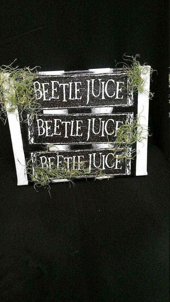 Beetle Juice sign by LunarHaven on Etsy