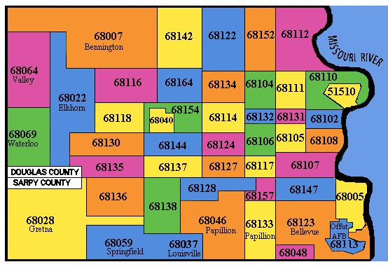 Zip Code Map Omaha Ne | Zip Code MAP