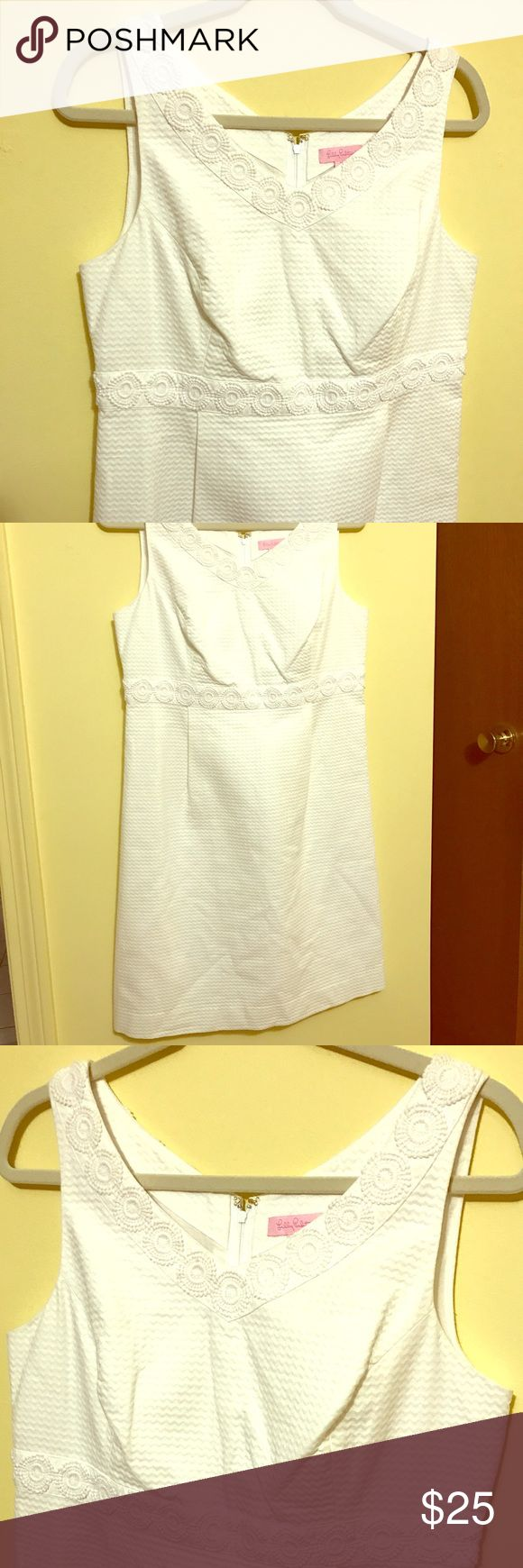 Lilly Pulitzer White Dress Sz 10 No tags and a few years old, but has never been worn! Lilly Pulitzer Dresses