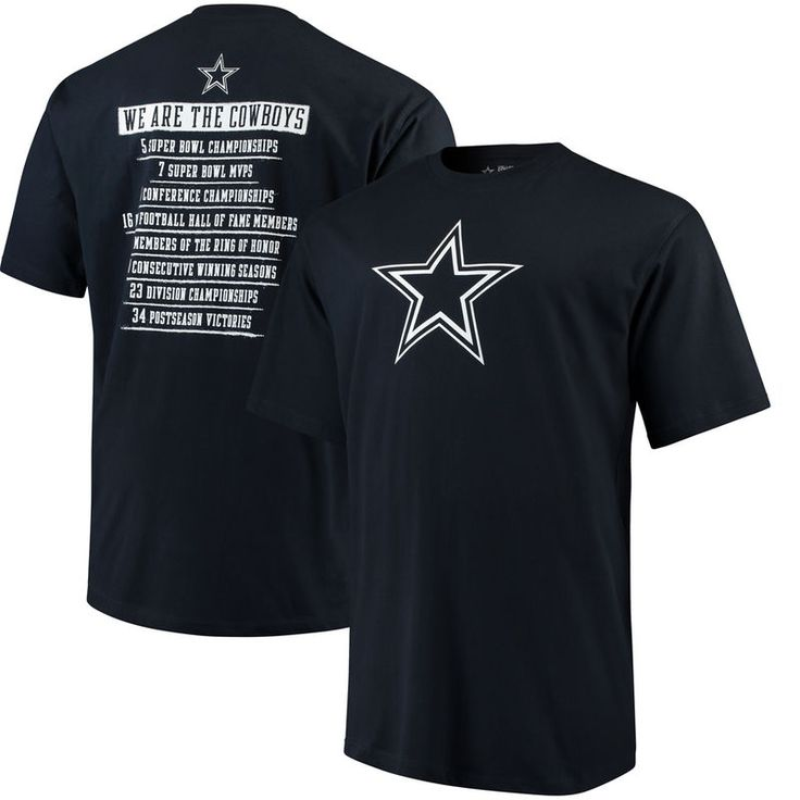 Dallas Cowboys Big & Tall Revered Stats T-Shirt - Navy