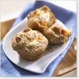Muffins santé à l'avoine, aux pêches et à la crème