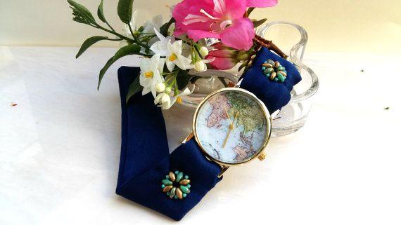 Blue Women's Watch, Dress Watch Ladies fashion Watch  by HARMONYHOURWATCHES