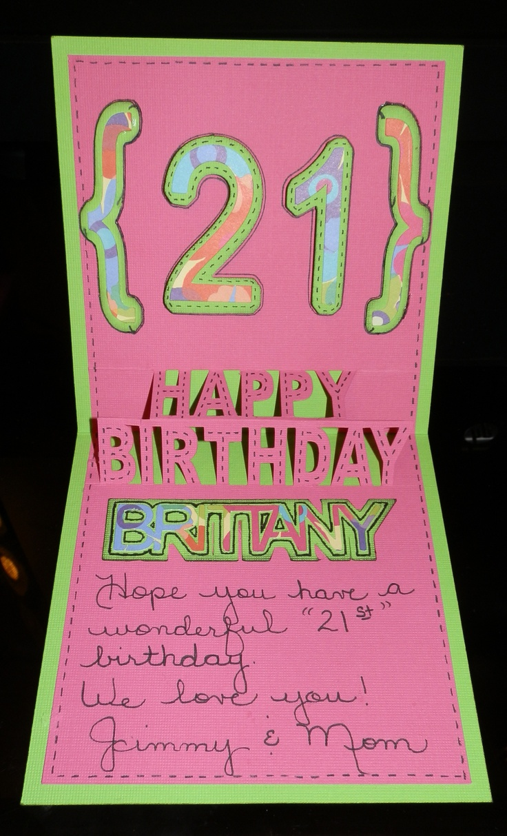 Daughter's 21st birthday card | 21st Birthday Party Ideas ...