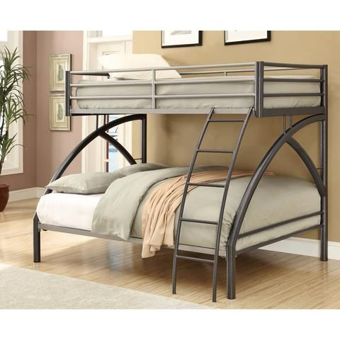 Kids, Childrens Unique Metal Full over Full Bunk Bed