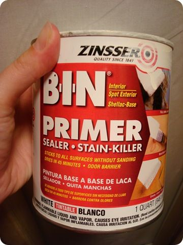 For the cabinets (NO SANDING PRIMER) Also a BIX TSP cabinet cleaner to use first, to get the grime off.
