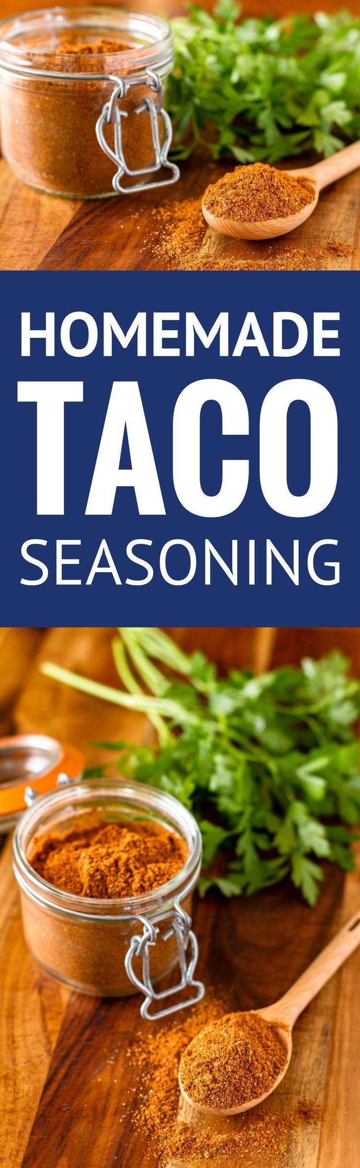 Homemade Taco Seasoning Mix -- make your own all purpose taco meat seasoning and you'll never go back to the icky processed store bought version again... Easy, less expensive, preservative-free and Whole30 approved! | taco seasoning recipe | diy taco seasoning | whole30 taco seasoning | beef taco seasoning | chicken taco seasoning | find the recipe on unsophisticook.com #whole30recipes #tacotuesday #tacoseasoning #homemade