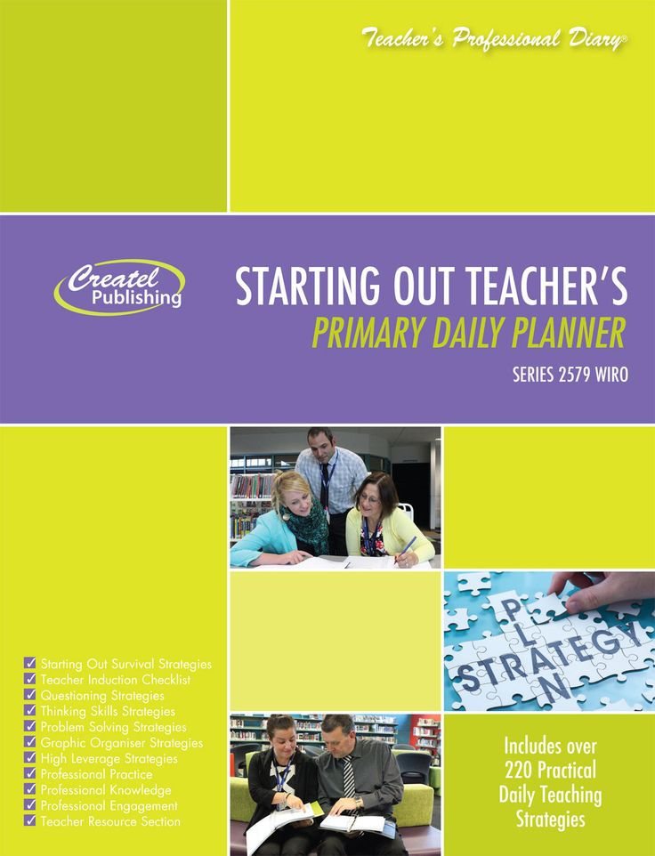 Starting Out Teachers Daily Teacher Planner Createl Publishing