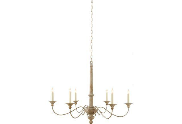 Country Chandelier, Belgian White