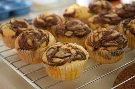 Cupcake variegati alla nutella!