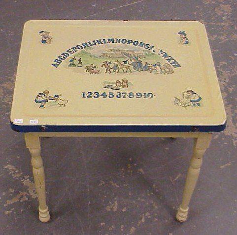 Vintage Porcelain Kitchen Table