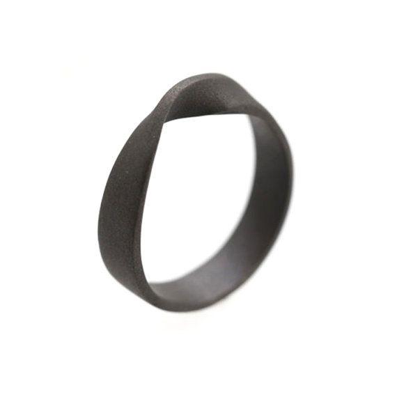Mobius Ring, Titanium Rings for Men, Unique Titanium Mobius Ring