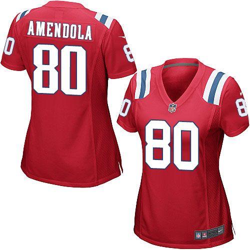 Nike New England Patriots Women's #80 Danny Amendola Game Red Alternate NFL Jersey