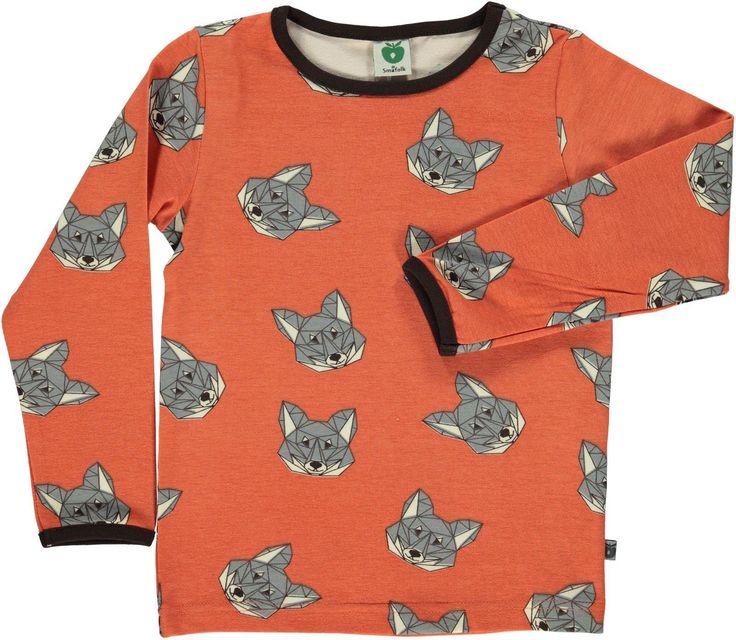 Smafolk l/s tee - Fox - Orange Retro Baby Clothes - Baby Boy clothes - Danish Baby Clothes - Smafolk - Toddler clothing - Baby Clothing - Baby clothes Online