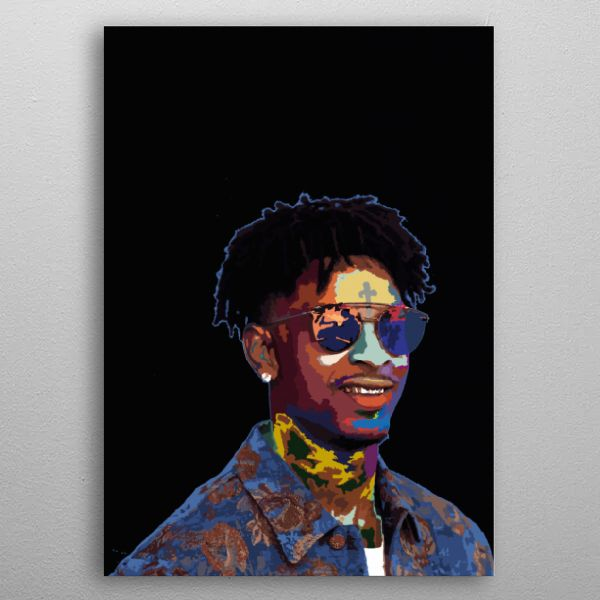 21 savage art poster by phuong dong