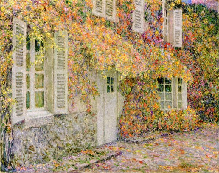 The Athenaeum - The House in Autumn (Henri Le Sidaner - No dates listed)