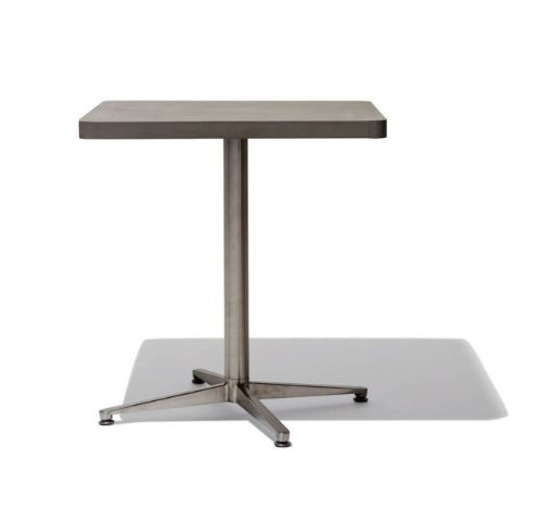 Modern Furniture offers a great selection of restaurant furniture. This square table features concrete top & metal base. It's an ideal choice for bistros cafes & bars. Matching wood chair and round bistro table available. Call (203) 831-8591 or email eric@inoutdoorliving.com for ordering. Price excludes shipping cost. Sales tax rate 6.35% applicable to orders shipping to the state of Connecticut.