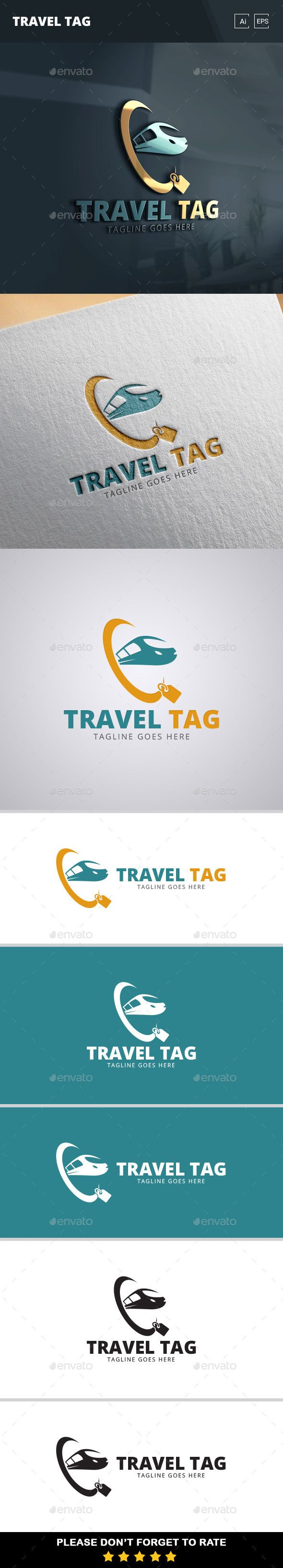 Travel Tag Logo Template