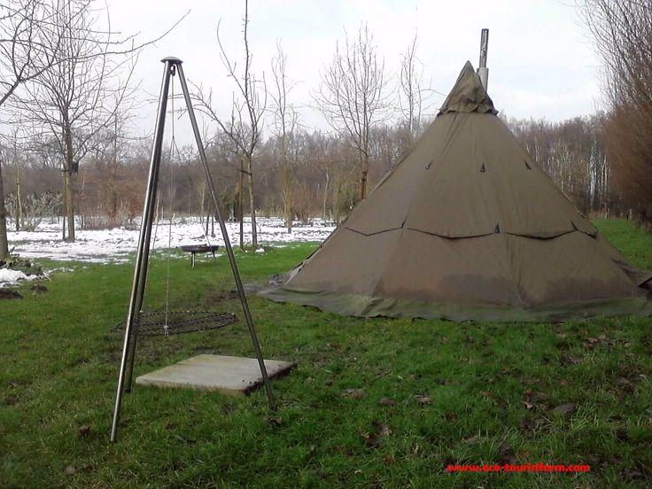 Winterkamperen op natuurkampeerterrein De Biezen Aarle-Rixtel