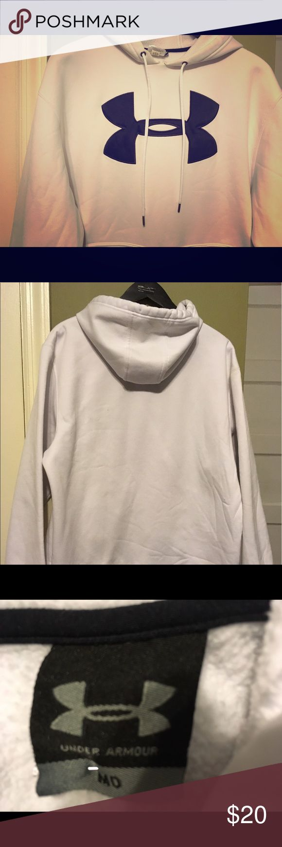 Under Armour men's Hoodie White mens Under Armour Hoodie Size M / in good condition Under Armour Shirts Sweatshirts & Hoodies