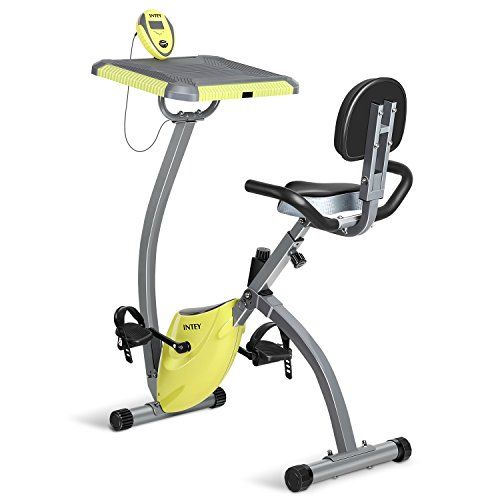 INTEY Exercise Bike For Home With Desktop Magnetic