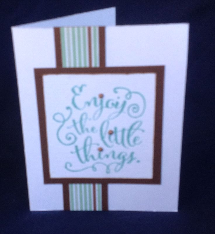 Card using CTMH Little things stamp & Lagoon ink