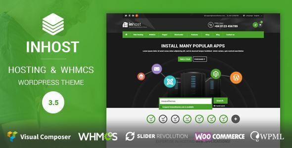 ThemeForest - InHost   Hosting, WHMCS WordPress Theme  Free Download