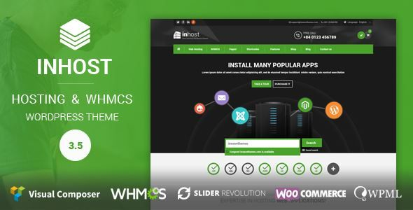 ThemeForest - InHost | Hosting, WHMCS WordPress Theme  Free Download