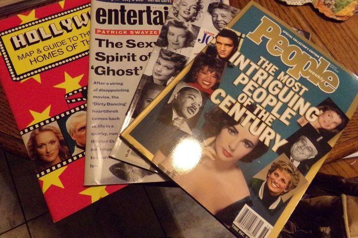 Lot 4 Entertainment Magazines Babe Ruth Patrick Swayzee Jimmy Hendricks Madonna