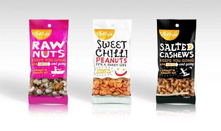 Lifestyle Snack Range Packaging for Provender Australia by Onfire Design