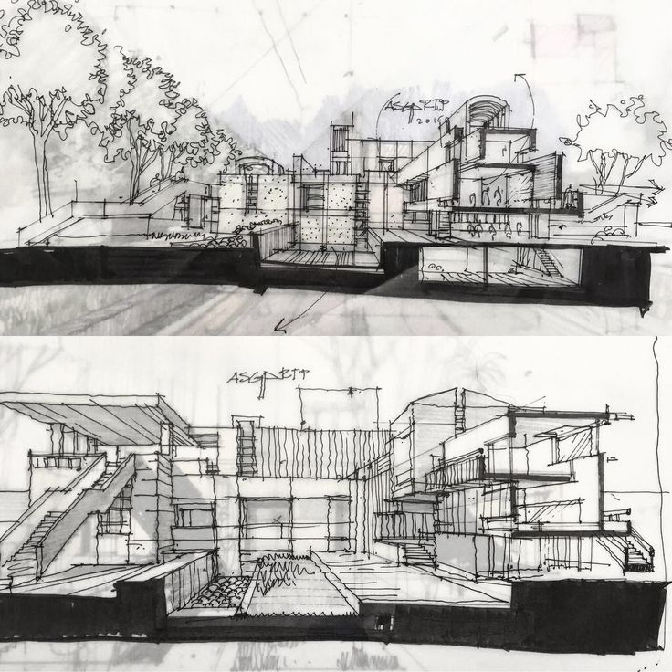 1895 best architectural sketches images on pinterest for Full size architectural drawings