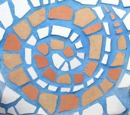 Realizar mosaicos con piedras o papeles de distintos colores y texturas...cartulinas.. (3er ciclo)