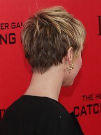 Jennifer Lawrence Short Hair Back View